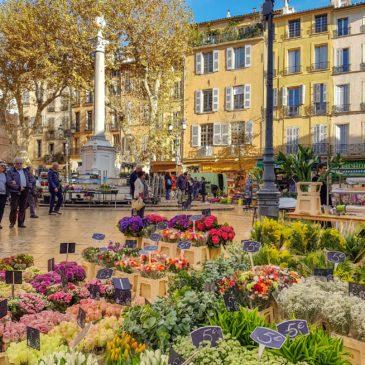 As praças de Aix-en-Provence