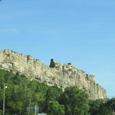Fortaleza de Mornas visto da estrada